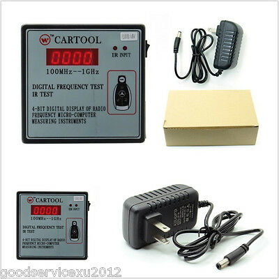 DC9V 100MHz--1GHz Vehicles IR Infrared Remote Key Digital Frequency Tester Tool