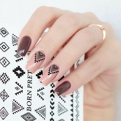 2Sheets Nail Water Decals Shape Art Manicure Transfer Stickers BORN PRETTY