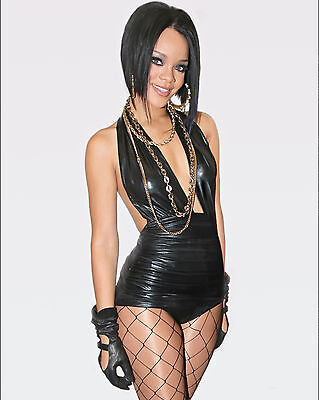 Rihanna 8X10 Photo Picture Pic Hot Sexy In Tight Leather And Lace 65