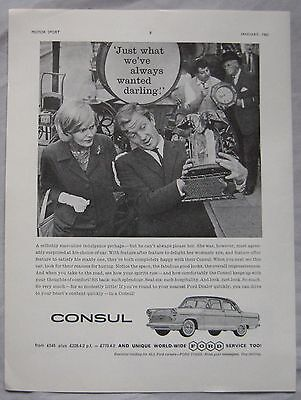 1961 Ford Consul Original advert No.1