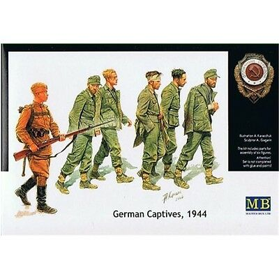 1:35 German Captives 1944 Figurines - , Masterbox Plastic Model Kit Miniature