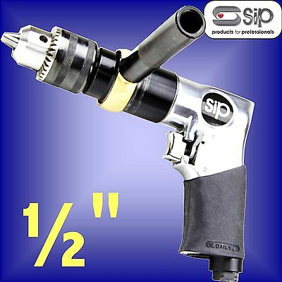SIP 06711 Professional Reversible Air Drill 1/2 Keyed Chuck