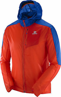Salomon Fast Wing Hooded Mens Jacket - Red