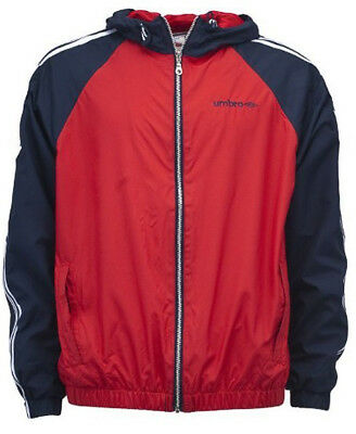 Umbro Dorsey Hooded Mens Training Jacket - Red