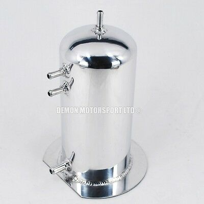 2.5 Ltr Round Dome Alloy Fuel Surge Tank / Swirl Pot 8mm & 11mm (Polished)
