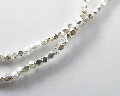 Karen Hill Tribe Silver 220 Faceted Seed Beads 1.3mm.13 inches