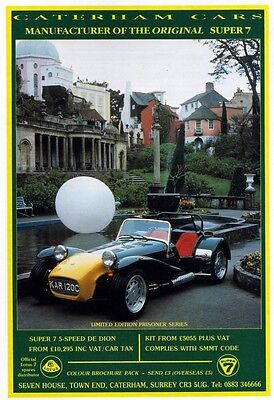 Caterham Super 7 Limited Edition Prisoner series advert poster / print