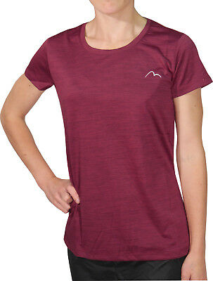 More Mile M-Tech Dry Girls Short Sleeve Running Top - Pink
