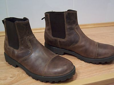 NEW M&S KIDS BROWN LEATHER ANKLE  BOOTS  SIZE UK 3 EUR 35.5 50% OFF THE rrp