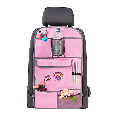 Cool Girl Car Back Seat Tidy Storage Organiser Holder Cover Protector Pockets