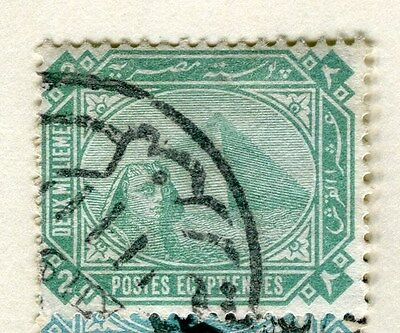 EGYPT;  1888-1909 early Pyramid issue fine used 2m. value
