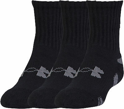 Under Armour HeatGear 3 Pack Crew Socks - Black