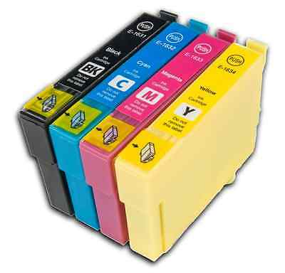 4 T16 XL non-OEM Ink Cartridges For Epson Workforce Printer WF-2750DWF