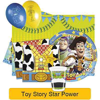 Disney TOY STORY STAR POWER Birthday PARTY RANGE (Tableware & Decorations)Pixar