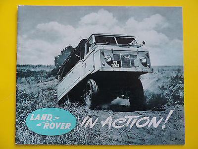 Brochure Prospekt Catalogue Publicité LAND ROVER 88 109 IN ACTION