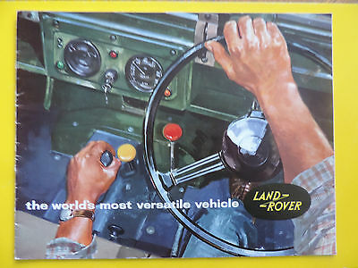 Brochure Prospekt Catalogue Publicité LAND ROVER 88 109