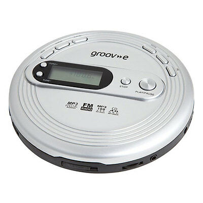 New Groov-E Retro Series Personal Cd Player With Radio And Mp3 Player - Silver