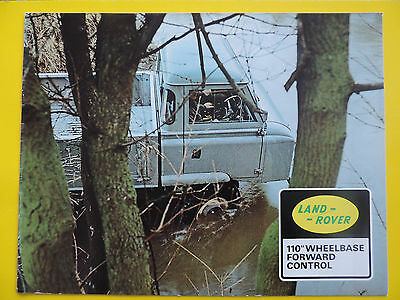 Brochure Prospekt Catalogue Publicité LAND ROVER 110 FORWARD CONTROL cadeau gift