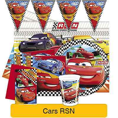 Disney CARS RSN Birthday PARTY Range (Tableware Balloons & Decorations) Pixar