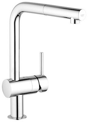 Grohe Minta Kitchen Sink Tap with Pull Out Spout Extractable Mousseur Chrome