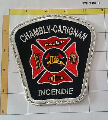 Canada QC Pompier Chambly-Carignan Incendie Fire Officer Dept Patch Silver