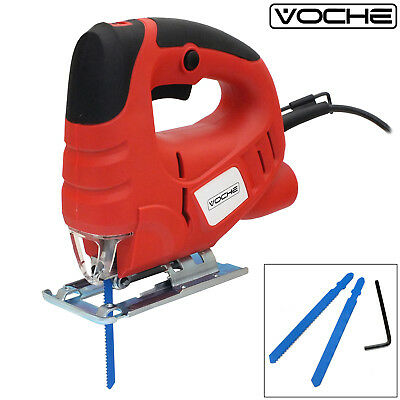 Voche® 400W Electric Jigsaw Variable Speed Adjustable Bevel Jig Saw + 2 Blades