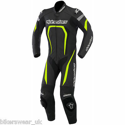 Alpinestars MOTEGI 1 One Piece Suit Black/Fluo Leather Motorcycle clearence