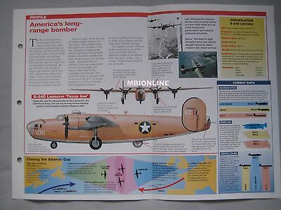 Aircraft of the World Card 2 , Group 11 - Consolidated B-24 Liberator
