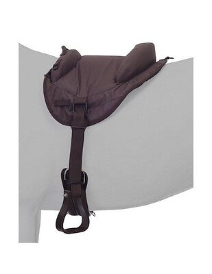 "Tough-1 Saddle Pad Heavy Denier Bareback Youth 12"" Brown 31-911"
