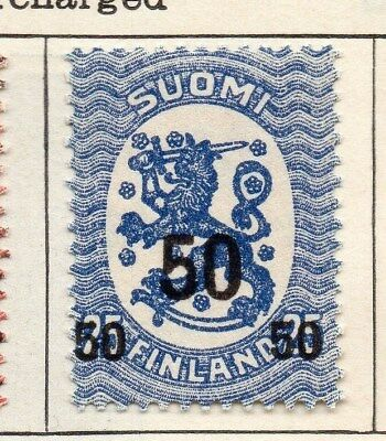 Finland 1918 Early Issue Fine Mint Hinged 50p. Surcharged 105512