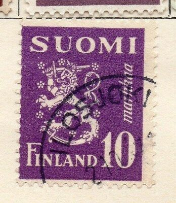 Finland 1930 Early Issue Fine Used 10p. 105542