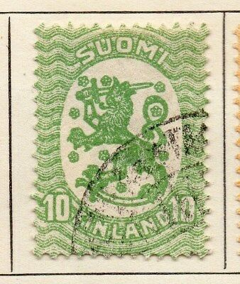 Finland 1918 Early Issue Fine Used 10p. 105566