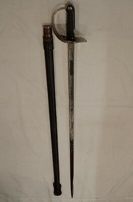 WW1 British Infantry Officers 1897 Ptn Sword with Leather Scabbard WIlkinson