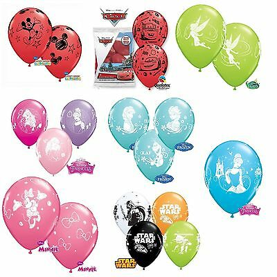 "DISNEY Licensed Character 12"" LATEX BALLOONS x 6 {Qualatex} (Birthday/Party)"