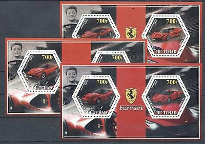 (933717) Ferrari, Racing Cars, Chad - private issue -