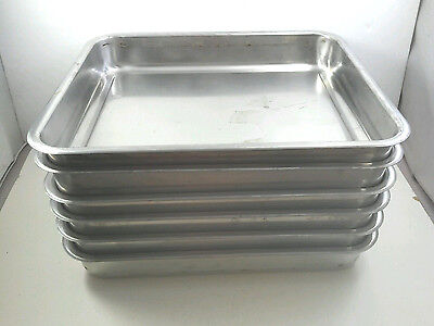 STAINLESS STEEL Set of 6 CATERING Full Size Buffet TRAYS Tramontina W Handles