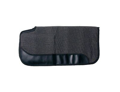 "Tough-1 Western Saddle Pad Air Flow PVC Built Up 30""x30"" Black 31-997"