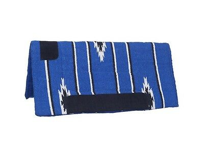 "Tough-1 Western Saddle Pad Sierra Square Fleece 32"" x 32"" Blue 31-645"