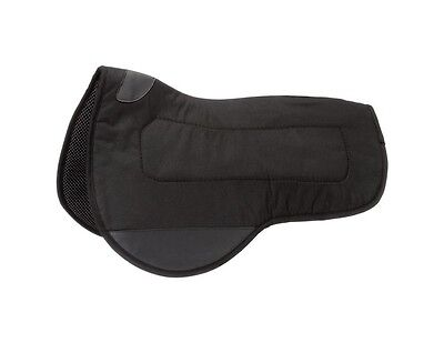 Tough-1 Saddle Pad Mule Contour Vented PVC Rubber Black 31-100
