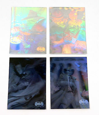 1996 Skybox Batman Holo Series Silver HoloAction Card Set (H1-H4) Nm/Mt