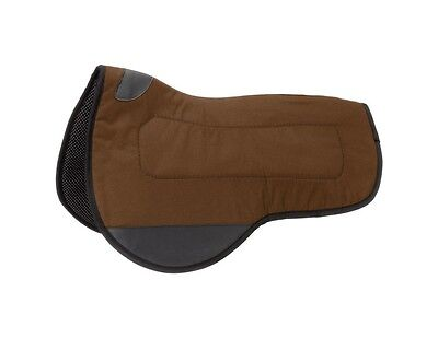 Tough-1 Saddle Pad Mule Contour Vented PVC Rubber Brown 31-100