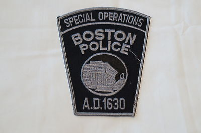 US Boston Special Operations Police Patch Obsolete