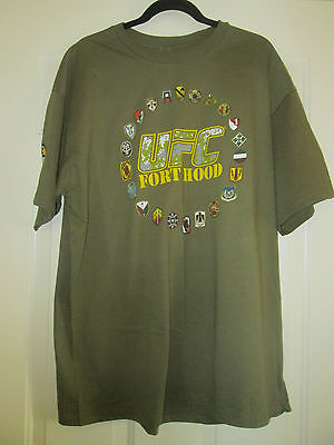 UFC Fort Hood 2011 T-Shirt Sz XL NWOT Fight for the Troops Spike Heroes Fund
