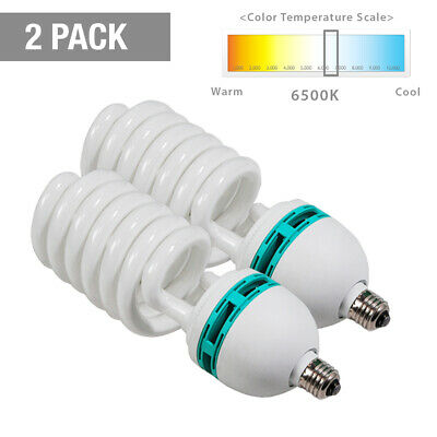 2x 85W Photography Lighting Photo Studio Light Bulb Day Light Balanced (700Watt)