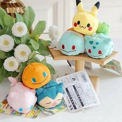Anime Pokemon Plush Toys Kuttari Pikachu Charmander Umbreon Jolteon Kuta TSUM