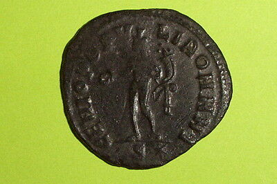 HUGE Authentic ROMAN COIN genius MAXIMIANUS patera cornucopia mythology VF old