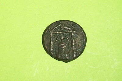 Ancient GREEK COIN temple goddess PAMPHYLIA PERGA 200 BC archery bow mythology