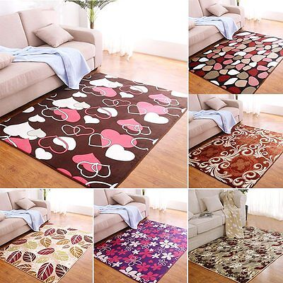 Thick Area Rug Living Room Printing Rectangle Carpet Bedside Non-slip Floor Mat