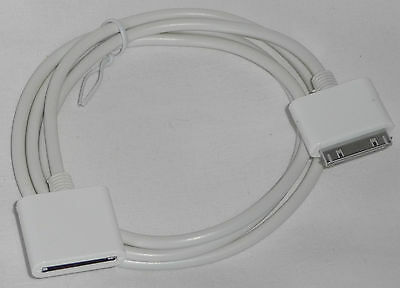 1m USB EXTENSION Cable for iPod / iPhone 30pin Sync Data Charger white cord/lead
