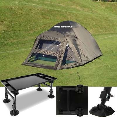 2 Man Double Skin NGT Carp Fishing Bivvy Tent Shelter + NGT Giant Dynamic Table